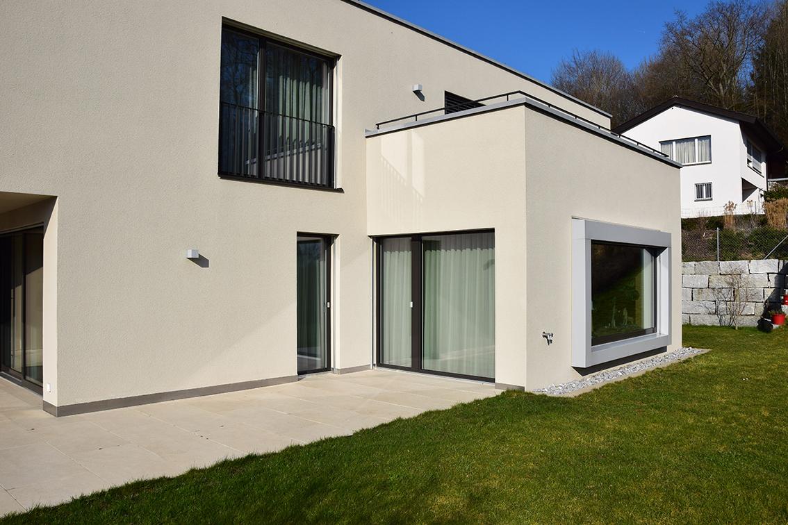 Aussenansicht Neubau EFH Lindhofstrasse, Windisch
