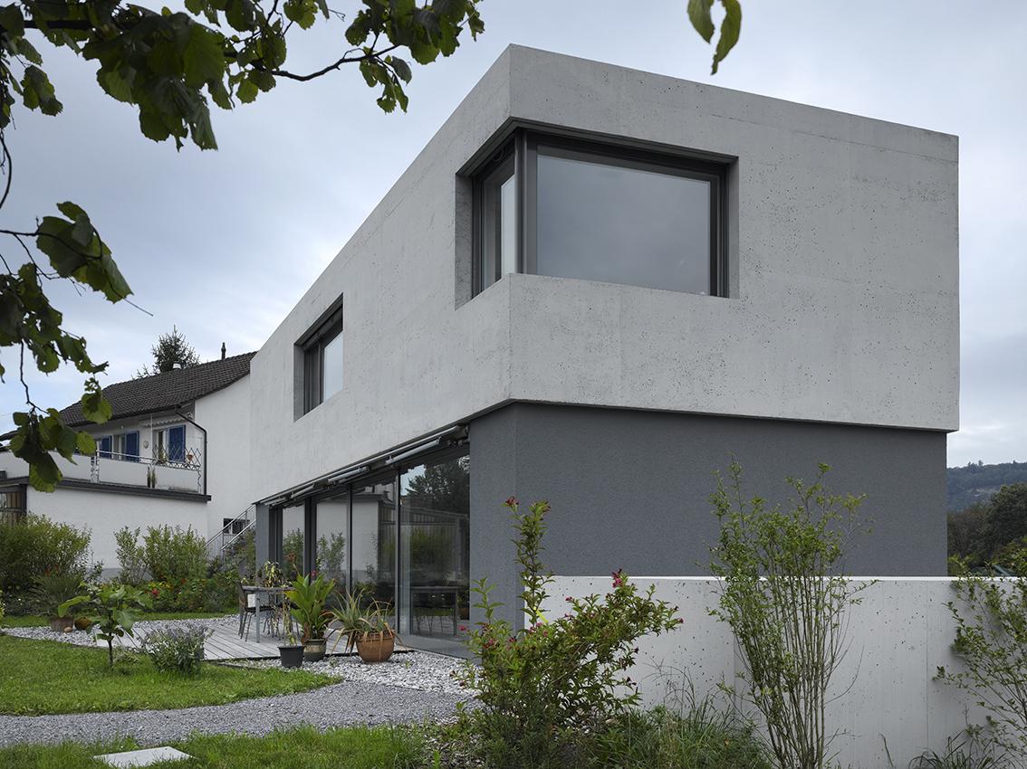 Aussenansicht Neubau EFH Schachenweg, Windisch