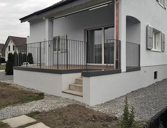 Aussenansicht Umbau EFH Bachmattstrasse, Windisch