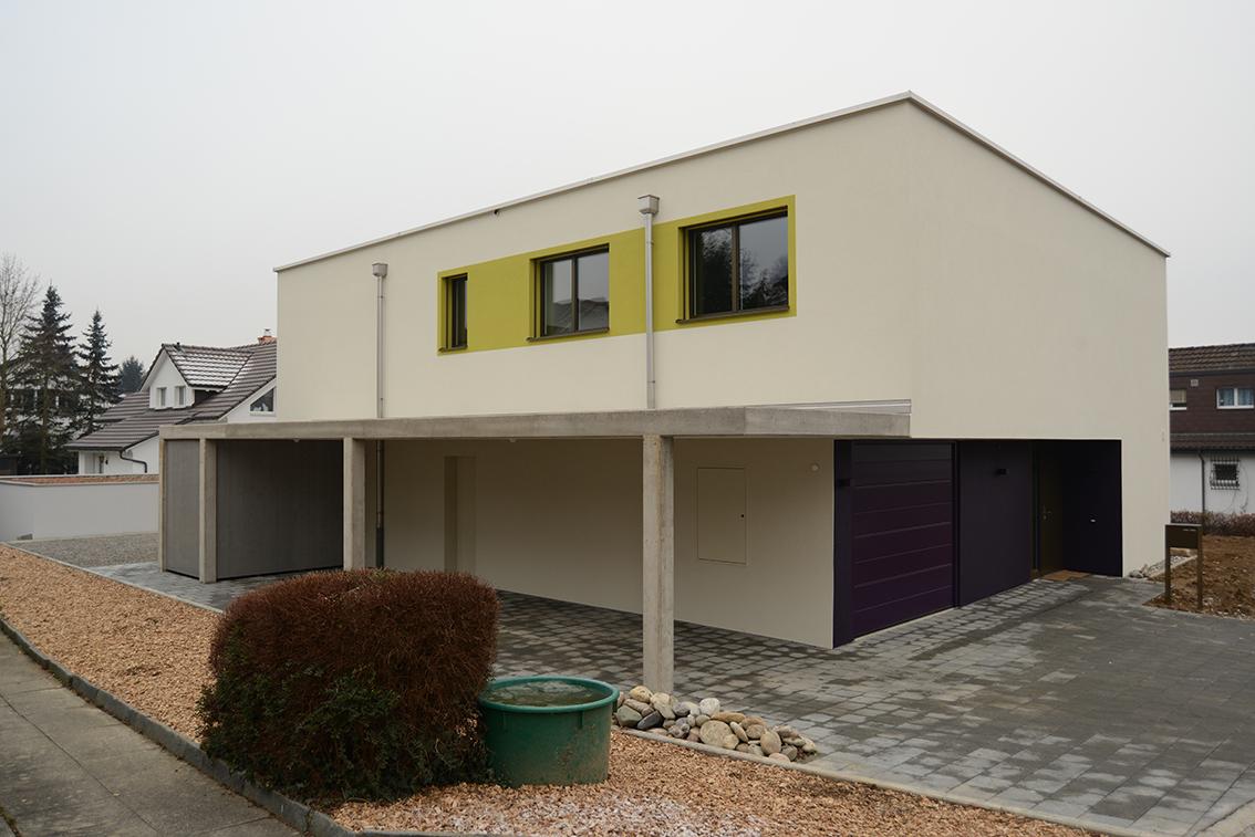Aussenansicht Neubau EFH Moosrain, Windisch