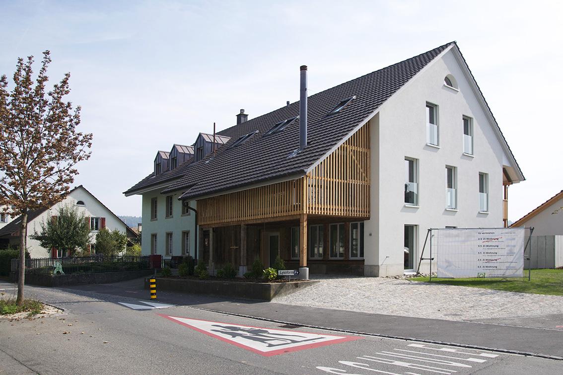 Aussenansicht Umbau Bauernhaus, Windisch