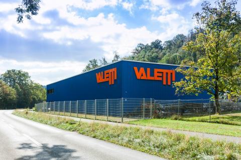 Valetti Firmengebäude bei Tag